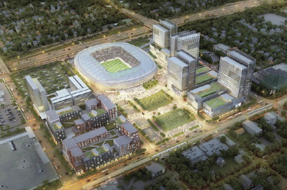 Midway soccer stadium and redevelopment
