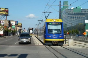 Green Line LRT, Metro Transit, University Avenue, Midway Center, Spruce Tree