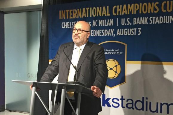 Charlie Stillitano, Relevent Sports, ICC, US Bank Stadium