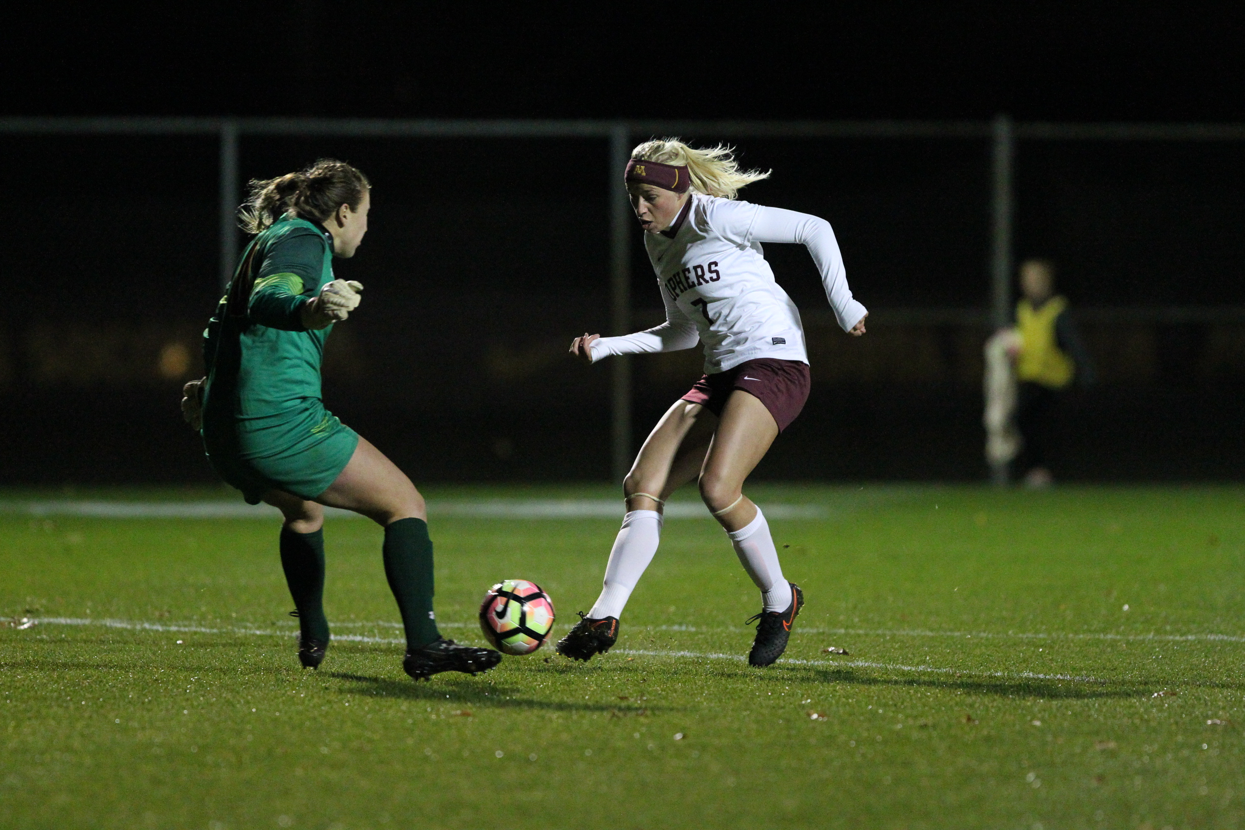 Sydney Squires scored two of the six goals in the win over Maryland. Photo by Jeremy Olson - www.digitalgopher.com