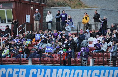 A good contingent of Tommies fans made the trip to Virginia for the semifinal match.