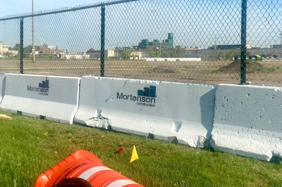 Mortenson Construction barriers