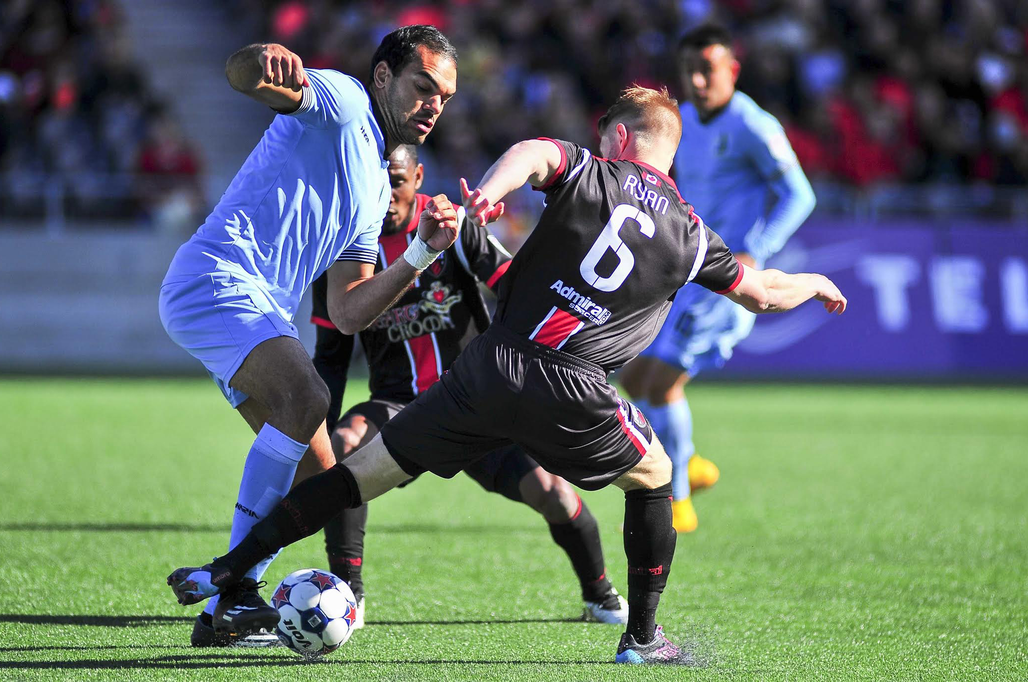Richie Ryan battles for the ball during his days in Ottawa. Image