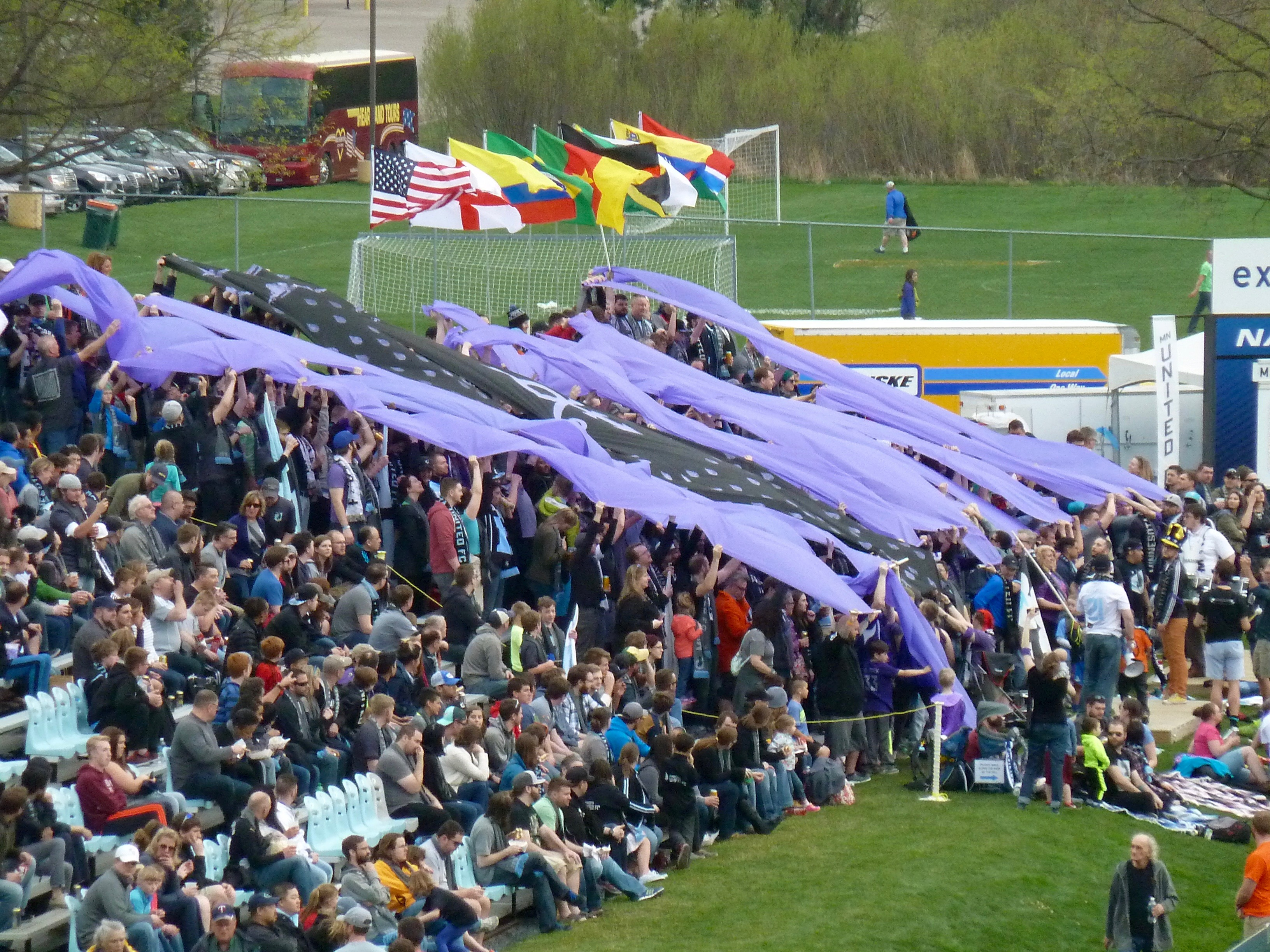 Dark Clouds Prince tribute tifo - 2016. Photo by Brian Quarstad.