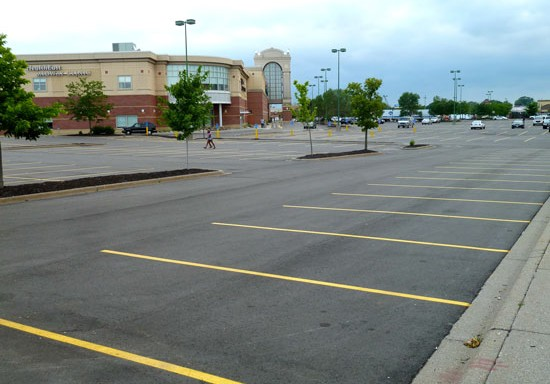 Underutilized Parking Midway Shopping Stadium MLS Minneosta United
