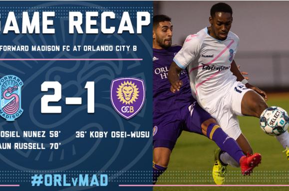 Forward Madison FC vs. Orlando City B game recap